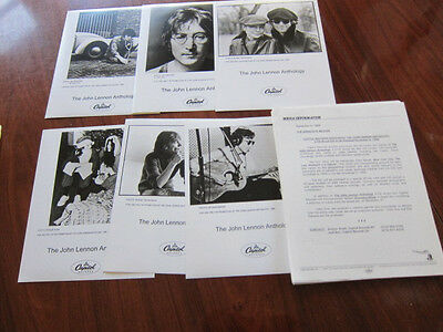 JOHN LENNON Press kit 6 photos 20+ pgs