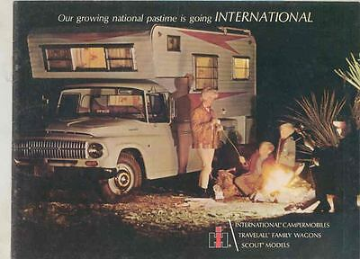 1966 International Travel All Scout Camper RV Motorhome Brochure wt3829