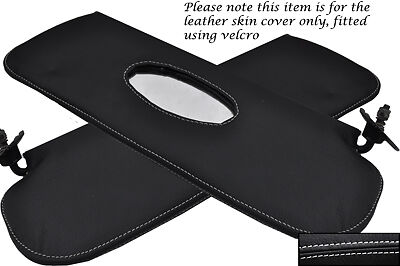 BLACK STITCH FITS NISSAN 350Z FAIRLADY 2X SUN VISORS LEATHER COVERS ONLY