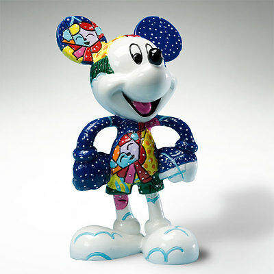 WALT DISNEY ENESCO RESINA 4020812 BRITTO TOPOLINO MICKEY MOUSE WINTER H 10cm