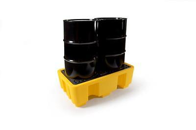 LUBETECH 2 DRUM POLYETHYLENE SPILL PALLET COMES WITH GRATE PART No 31-3022