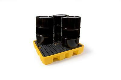 LUBETECH 4 DRUM POLYETHYLENE SPILL PALLET COMES WITH GRATE PART No 31-3022