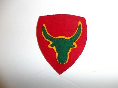 b1956 US Army 1930's 12th Division Philippine patch red yellow green