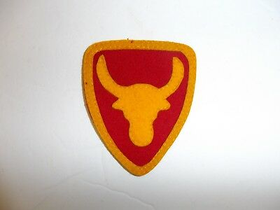 b1959 US Army 1930's 12th Division Philippine patch red & yellow  wool
