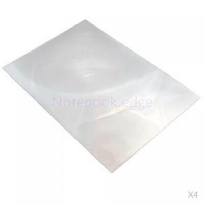 4Pcs Plastic Xl Magnifier Fresnel Lens Full Page Magnifying Sheet