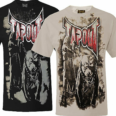 Tapout Pitbull T-Shirt MMA UFC Tee Mens Cage Fighter Grim Reaper / Pitbull New