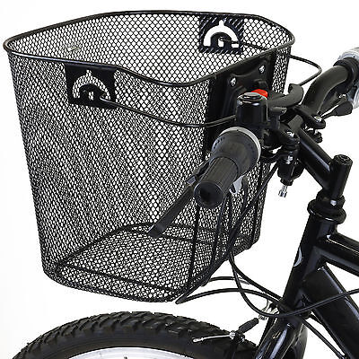 Bike/bicycle Metal Basket & Quick Release Mechanism Mesh Shopping Carry Handle