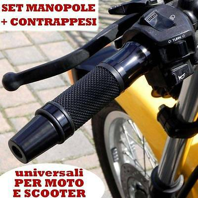 Set Di Contrappesi + Manopole Nero Piaggio X10 Mp3 X8 X7 Beverly Liberty Vespa