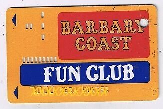 Barbary Coast Fun  Club Vintage Slot Card Holes In Card Las Vegas Nevada