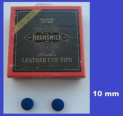 2 x 10mm  QUALITY BLUE DIAMOND POOL or SNOOKER CUE TIPS