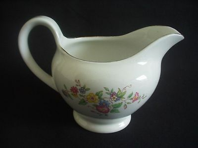 BURLEIGH WARE -BURGESS & LEIGH -MILK/CREAM JUG -FLORAL PATTERN -c.1940