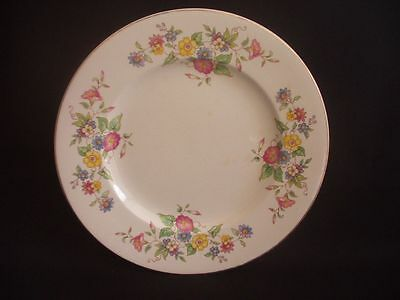 BURLEIGH WARE -BURGESS & LEIGH -DINNER PLATE -FLORAL PATTERN -c.1940