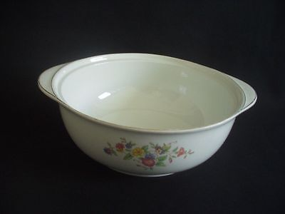 BURLEIGH WARE -BURGESS & LEIGH -OPEN VEGETABLE DISH-FLORAL PATTERN WITH GILDING