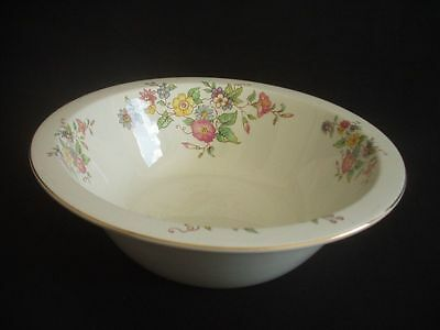 BURLEIGH WARE -BURGESS & LEIGH -FRUIT/SALAD SERVING BOWL -FLORAL PATTERN