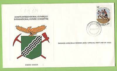 Zambia 1984 Olympics issue First Day Cover