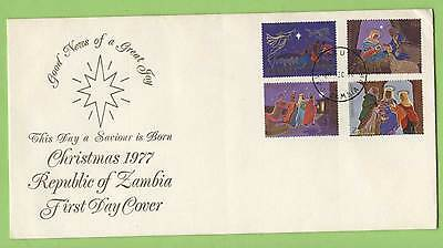 Zambia 1977 Christmas set on First Day Cover