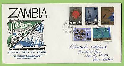 Zambia 1967 3rd Anniversary of Independencxe First Day Cover, written