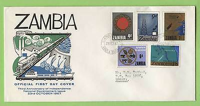 Zambia 1967 3rd Anniversary of Independencxe First Day Cover, typed