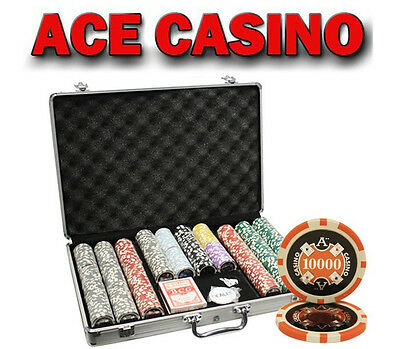 650pcs 14G ACE CASINO CLAY POKER CHIPS SET WITH ALUMINUM CASE CUSTOM BUILD