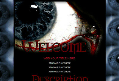 EYE SEE YOU TOO Halloween Grunge Horror AUCTION TEMPLATE Dare 2 b Different