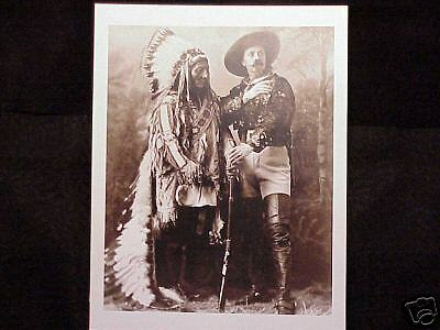 Sitting Bull Buffalo Bill Wild West Show Vintage Photo