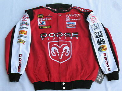 Elliott Sadler Dodge Cotton Twill NASCAR Jacket By Chase - Size Large (L)