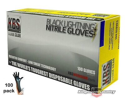 Nitrile Heavy Duty Protective Gloves Garden Spraying Painting Poison MEDIUM x100