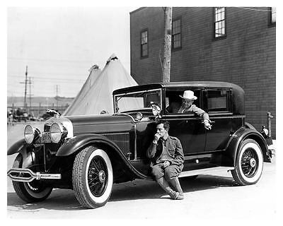1930 Lincoln Automobile Photo Poster Actor Buster Keaton & Cliff Edwards zub2612