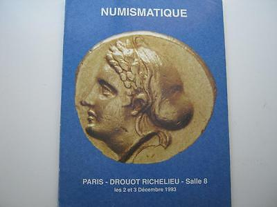 Drouot Richelieu coin auction catalogue, number 8, 2 & 3/12/1993.