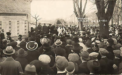 Burwell War Memorial Unveiling Ceremony 1921 # A.. Card by A.J. Shepherd, Soham.