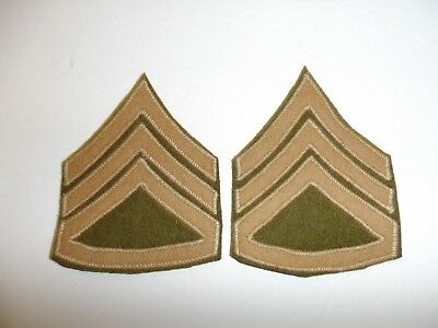 b2021 1930's US Army & Air Force Chevron Staff Sergeant pair wool on wool R1C