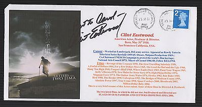 2007 Letters from Iwo Jima cover signed Clint Eastwoood.