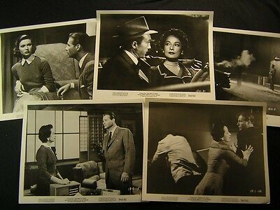 1956 Lex Barker Merle Oberon The Price Of Fear VINTAGE 5 Movie PHOTO LOT 499H