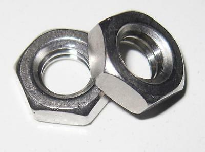 "1/4"" UNC Half Thin Lock Nut - Stainless (Qty 4)"