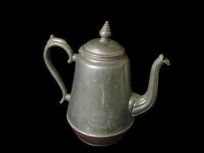 E B Mannings 1862 Pewter Coffee Pot
