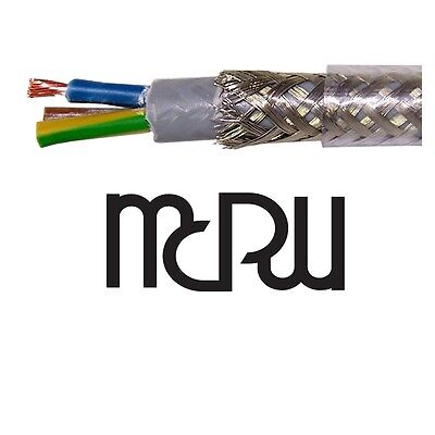 Mcru Audiophile Screened Mains Cable | 4Mm Conductors | Tinned Copper  Shielding