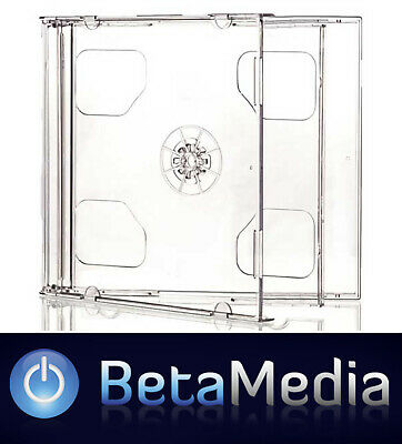 50 x Double Jewel CD Cases with Clear Tray - Standard Size CD case