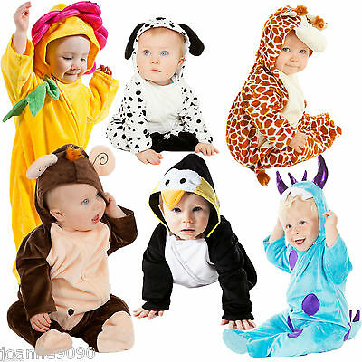 Deluxe Boys Girls Baby Grow Toddler Cute Animal Fancy Dress Dalmatian Costume Bn