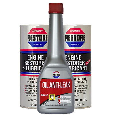 NEW BUNDLE - AMETECH ENGINE RESTORER OIL & OIL ANTI-LEAK STOP LEAK for 4L ENGINE