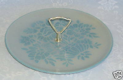 Serving Tray Red Wing Blue Shadows Flowers Plate Handle