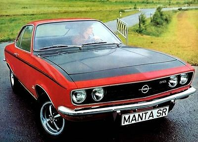 1972 Opel Manta SR Automobile Photo Poster zc3614-JXBPX2