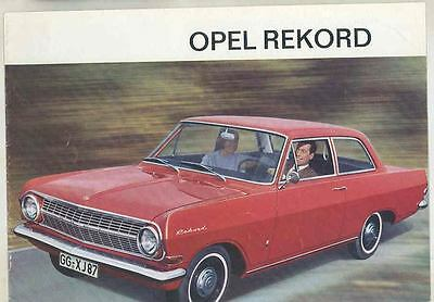 1964 Opel Rekord Brochure German Switzerland wt4318