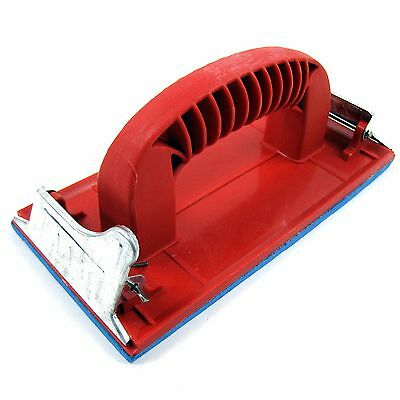 Sanding Paper Holder Hand Sander Plasterboard Filler DIY Tool Red New 183 x 88mm