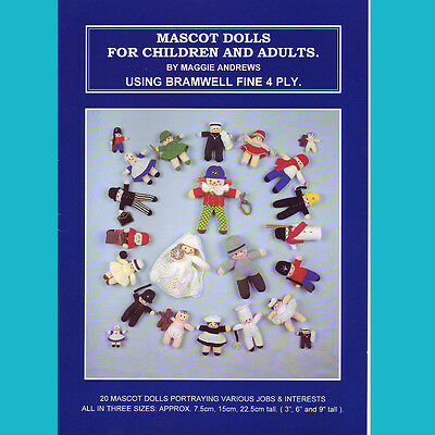 Knitting Machine Pattern Book Only Mascot Dolls: Knitmaster, Brother