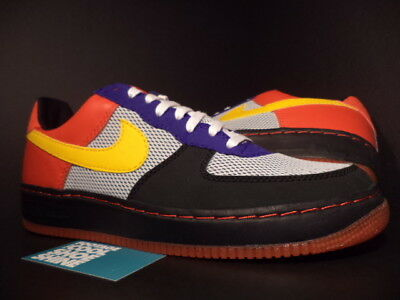 separation shoes 79826 0a857 2005 Nike Air Force 1 Low INSIDEOUT ALBIS PACK BLACK TAXI YELLOW RED PURPLE  13