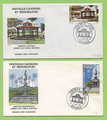 New Caledonia 1976 Aspects of Old Noumea First Day Covers