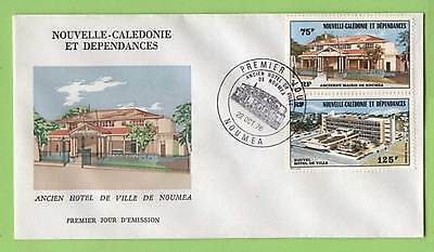 New Caledonia 1976 Old & New Town Halls First Day Cover