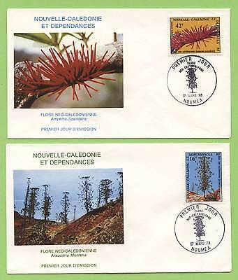 New Caledonia 1978 Flora set on two First Day Covers