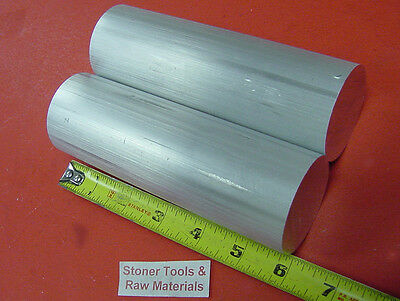 "2 Pieces 2"" ALUMINUM 6061 SOLID ROUND ROD 6"" long CUT NEW Lathe Bar Stock 2.000"""