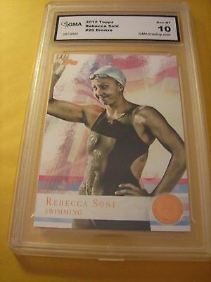 Sports Mem, Cards & Fan Shop Olympics Cards Kim Rhode Shooting 2012 Topps Us Olympics Bronze # 37 Graded 10 L@@k High Safety
